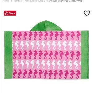 Pbk all over seahorse kids beach wrap